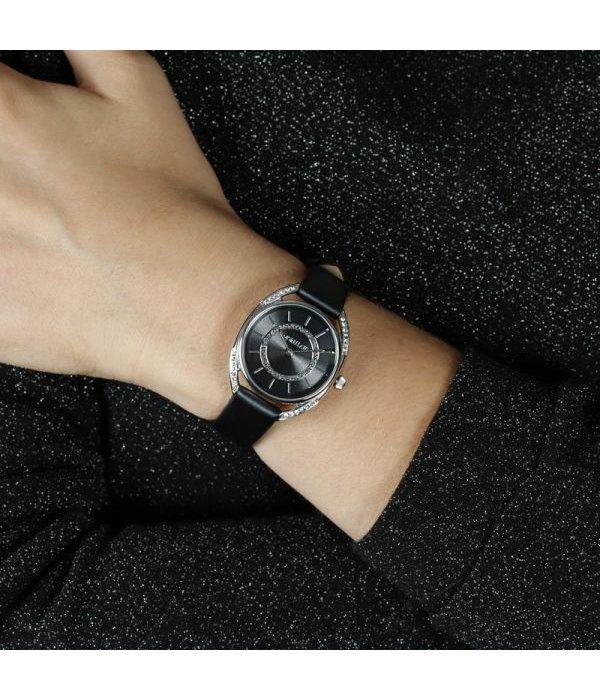 MORELLATO R0151137505 Tivoli ladies watch with black leather strap and krsitallen