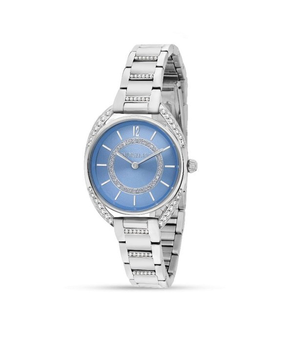MORELLATO R0153137506 Tivoli Damenuhr mit blauem Zifferblatt und Kristall