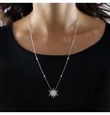 MORELLATO SAHR02 Pura Damen Halskette aus Sterling Silber 925% mit Kristallen