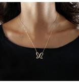 MORELLATO SAHO01 Batitto Halskette mit Kristallen in Gold Edelstahl