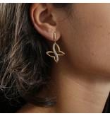 MORELLATO boucles d'oreilles SAHO08 Batitto avec des cristaux, en acier inoxydable couleur or
