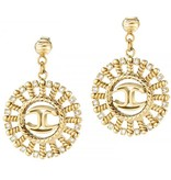 JUST CAVALLI Just SCAGB03 Sun earrings with crystals in gold-colored stainless steel