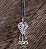 """APM MONACO AP10105OX """"1930"""" Halskette in Silber mit Kristallen"""