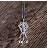 """APM MONACO AP1015OX """"1930""""  halsketting in zilver met kristallen"""