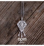"""APM MONACO AP1015OX """"1930"""" necklace in silver with crystal"""
