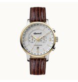 INGERSOLL I00602 The Grafton men's watch, chronograph with brown leather strap