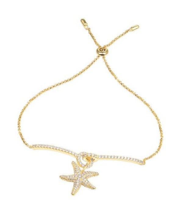 APM MONACO AB3276OXY Ramatuelle bracelet en or kelurig argent avec cristaux
