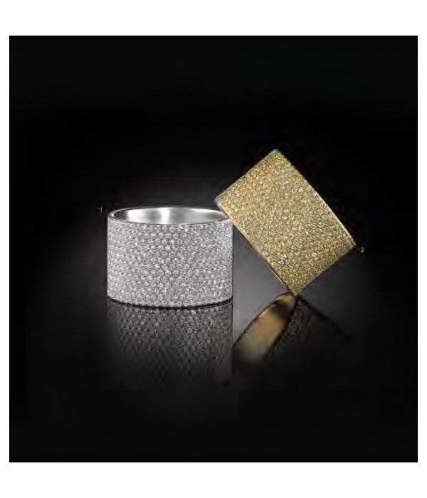 APM MONACO A15763OX Cannes ring in zilver met kristallen