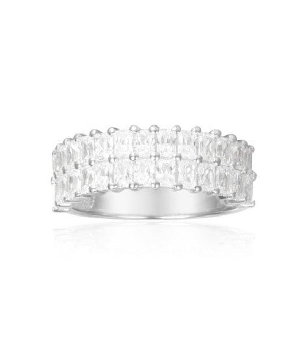 APM MONACO A17636OX ECLAT anneau dans les cristaux d'argent de mesure