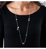 MORELLATO SAHL01 Natura Damen in Silber Collier und rosafarbenen Edelstahl mit Kristallen