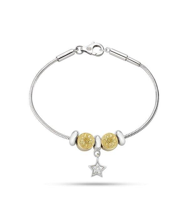 MORELLATO SAFZ131 Solomia charme bracelet en argent avec krsitallen