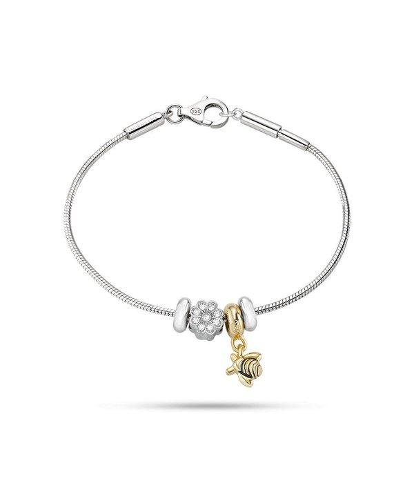 MORELLATO SAFZ126 Solomia charme bracelet en argent avec cristal