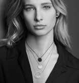 APM MONACO AP10131BZX Luna necklace in silver with black and white crystals