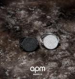 APM MONACO A17296BZX Luna Ring in Silber mit schwarzen und weißen Kristallen
