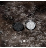 APM MONACO A17296BZX Luna ring in silver with black and white crystals