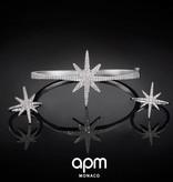 APM MONACO AB2893OX Meteorites bracelet in silver 925% with crystals
