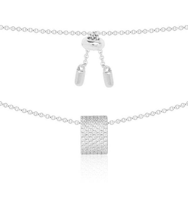 APM MONACO Cannes AP9665OX Halskette aus Silber mit Kristall