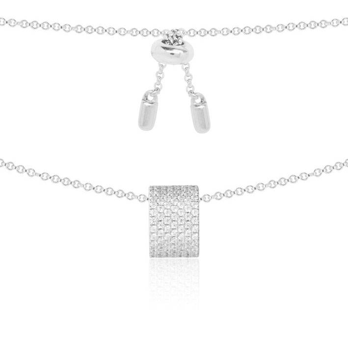 APM MONACO Cannes AP9665OX necklace in silver with crystal ...