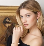 APM MONACO Perles AE8853XPL earrings in silver with crystals and pearls