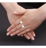 APM MONACO Perles A16511XPL ring in silver 925% with crystals and pearls
