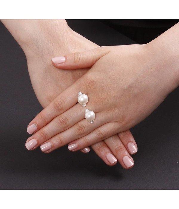 APM MONACO Perles anneau A16511XPL en argent 925% avec des cristaux et de perles