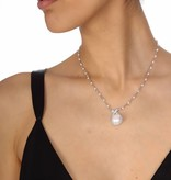 APM MONACO AC2918XPL halsketting Perles in zilver 925% met kristallen en parels