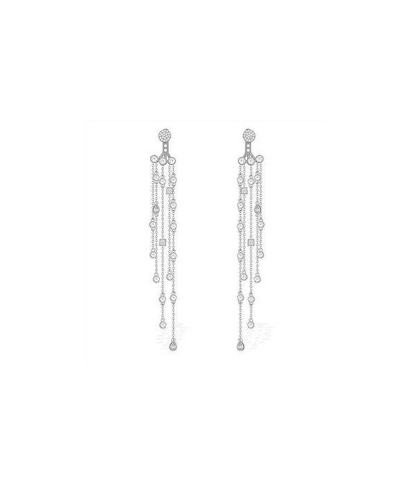 APM MONACO AE9190OX Seventies oorhangers in zilver 925% met kristallen