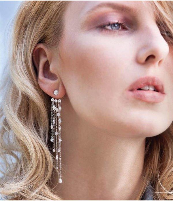 APM MONACO AE9190OX Siebziger Ohrringe in Silber 925% mit Kristallen