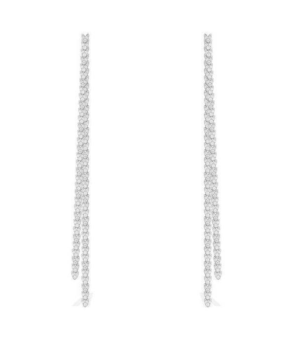 APM MONACO boucles d'oreilles AE9782OX Couture en argent 925% avec des cristaux