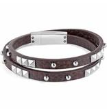 SECTOR SADP05 rock bracelet en cuir brun