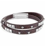 SECTOR SADP05 Rock bracelet in brown leather