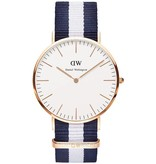 DANIEL WELLINGTON Classic Glasgow - DW00100004 - horloge - nato band - 40mm