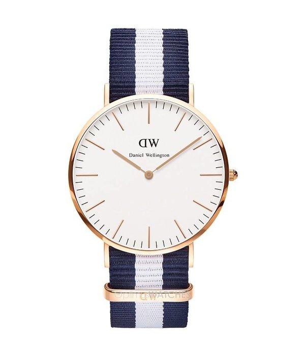 DANIEL WELLINGTON Classique Glasgow - DW00100004 - montre - bracelet nato - 40mm