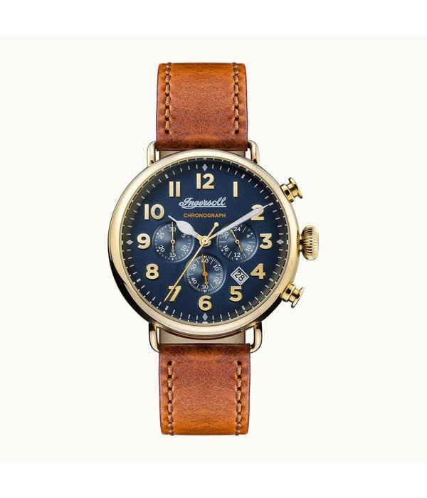 INGERSOLL The Trenton - I03501 - watch - chronograph - leather - gold - 44mm