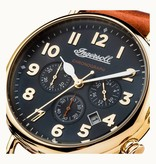 INGERSOLL Le Trenton - I03501 - montre - chronographe - cuir - or - 44mm