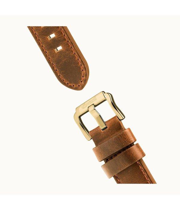 INGERSOLL The Trenton - I03501 - horloge - chronograaf - leer - goudkleurig - 44mm