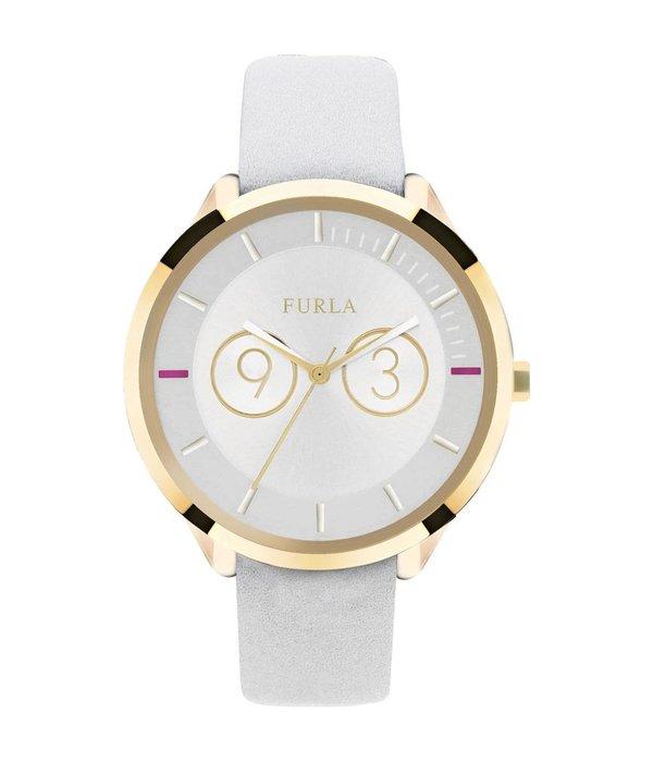 FURLA Metropolis - R4251102503 - horloge - leer - goudkleurig - 38mm