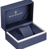 MASERATI  Circuito - R8871627005 - horloge - chronograaf - leer - zilverkleurig - 46mm