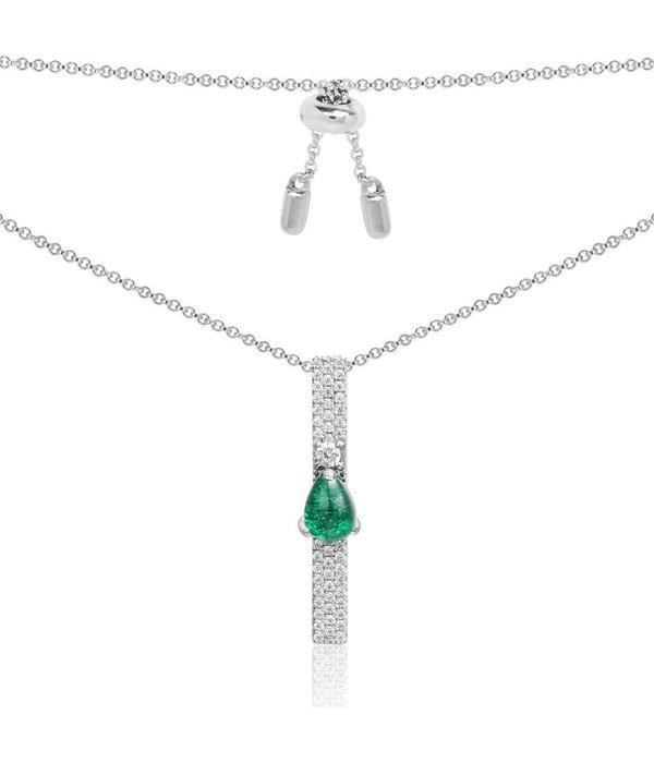 APM MONACO Menthe a l'eau - AP10173XKG - necklace - silver 925% - zirconium - 50cm