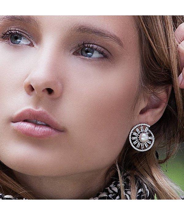 APM MONACO Pomelline - AE9711XPL - earrings - silver 925% - pearls - zirconium