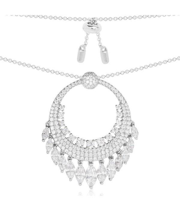APM MONACO Les Cascades - AC3387OX - halsketting - zilver 925% - kristallen