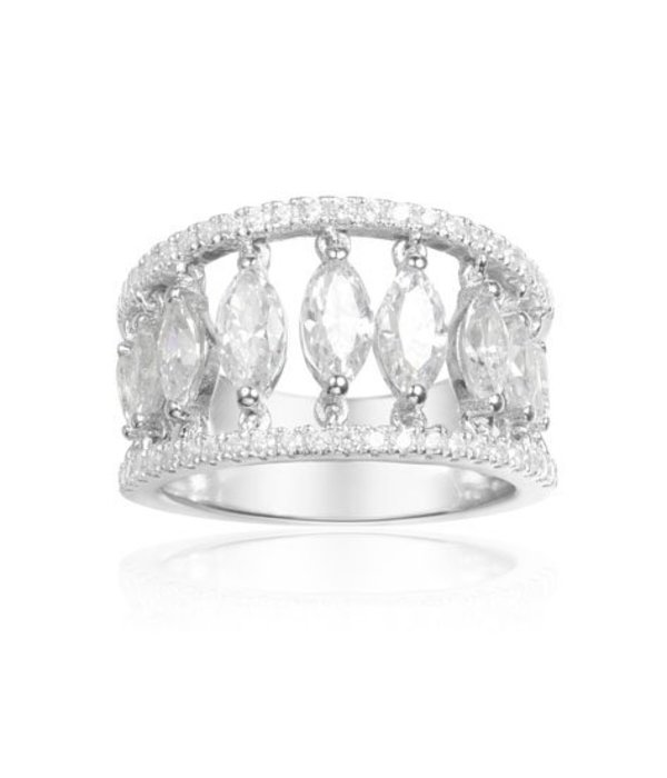 APM MONACO Les Cascades - A17631OX - ring - silver 925% - Crystals