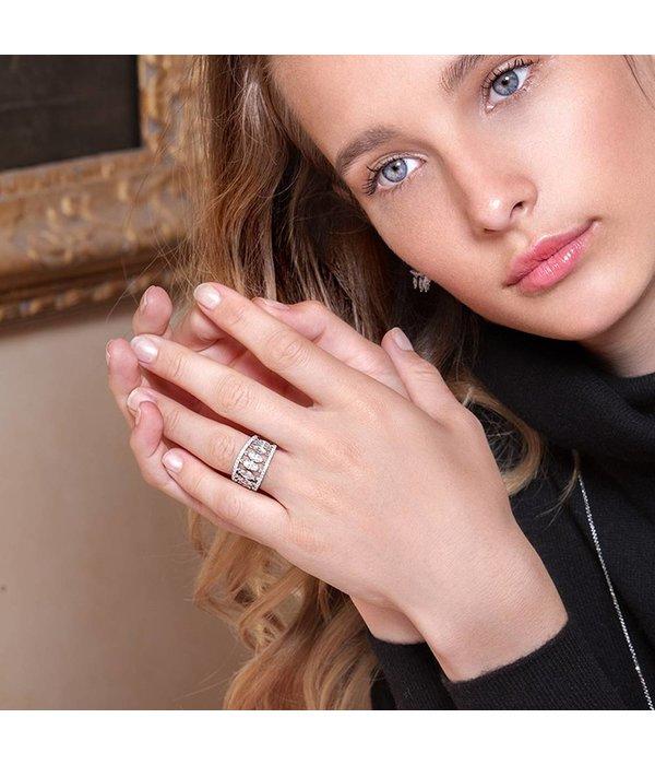 APM MONACO Les Cascades - A17631OX - ring - zilver 925% - kristallen