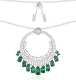 APM MONACO Les Cascades - AC3388XKG - halsketting - zilver 925% - kristallen