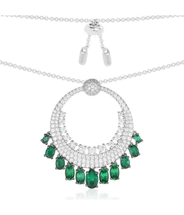 APM MONACO Les Cascades - AC3388XKG - Halskette - Silber 925% - Kristalle