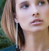 APM MONACO AE9782OX Couture oorhangers in zilver 925% met kristallen
