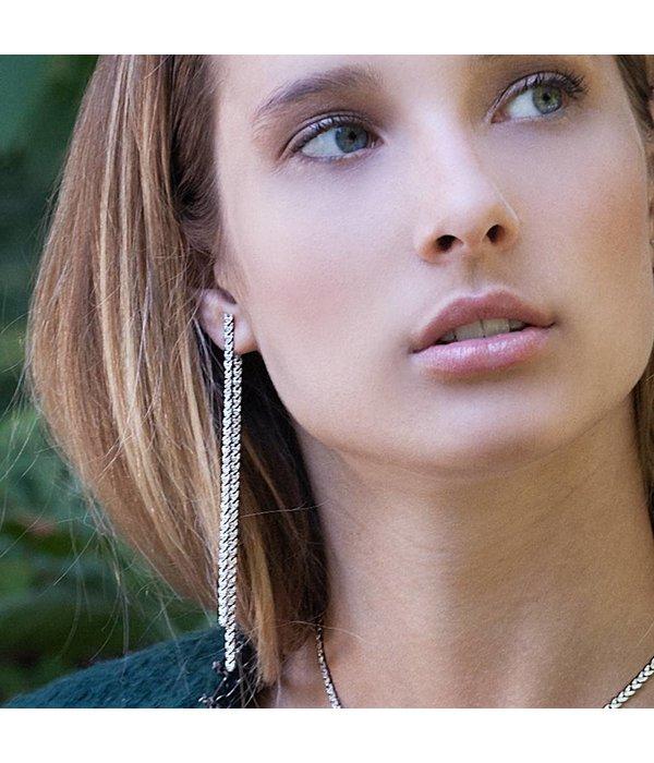 APM MONACO AE9782OX Couture Ohrringe in Silber 925% mit Kristallen