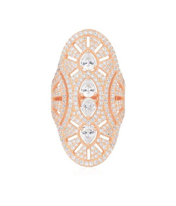 APM MONACO Vintage - R17854OX - ring - cristal - rose coloré