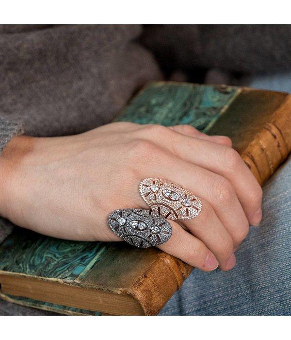 APM MONACO Vintage - R17854OX - ring - crystal - rose colored