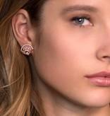 APM MONACO Madeleine - RE9984OX - earrings - krstallen - rose colored